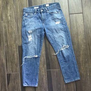 Adriano Goldschmied Drew Straight Boyfriend Jeans
